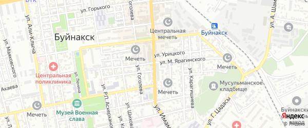 Улица Имама Шамиля на карте Буйнакска с номерами домов