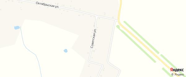 Советская улица на карте деревни Анаткаса-Марги с номерами домов