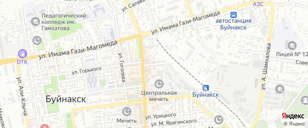 Колхозный переулок на карте Буйнакска с номерами домов