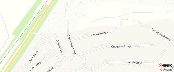 Улица Романтика на карте деревни Большие Катраси с номерами домов