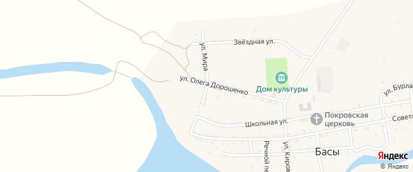 Улица Мира на карте села Басы с номерами домов