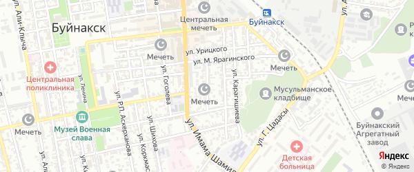 Улица Хуршилова на карте Буйнакска с номерами домов
