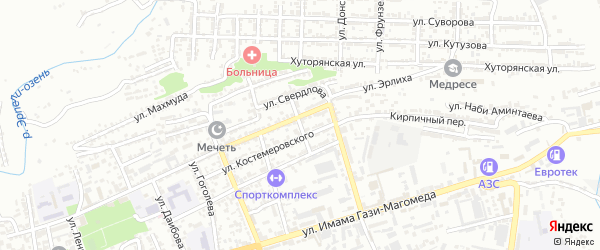Улица И.Казака на карте Буйнакска с номерами домов