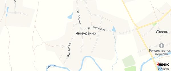 Карта деревни Янмурзино в Чувашии с улицами и номерами домов
