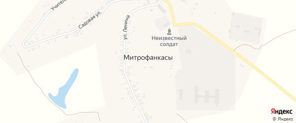 Лесной переулок на карте деревни Митрофанкасы с номерами домов
