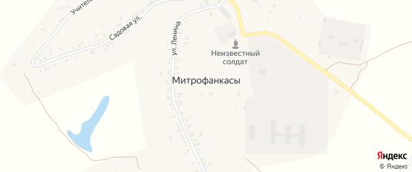 Садовый переулок на карте деревни Митрофанкасы с номерами домов