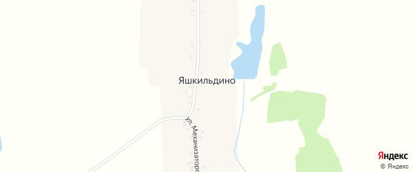 Восточная улица на карте деревни Яшкильдино с номерами домов