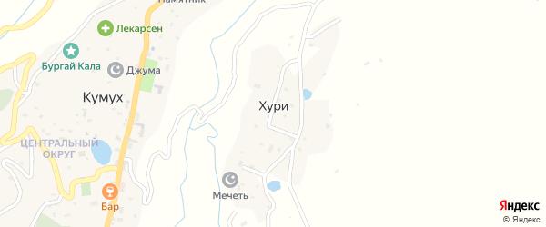 Центральная улица на карте села Хури с номерами домов