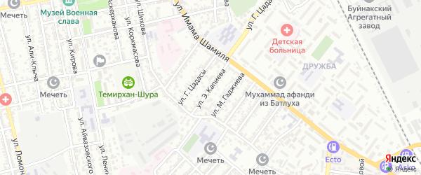 Улица Э.Капиева на карте Буйнакска с номерами домов