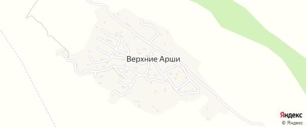 Центральная улица на карте села Верхнего Арш с номерами домов