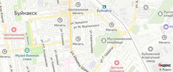 Улица Чаринова на карте Буйнакска с номерами домов