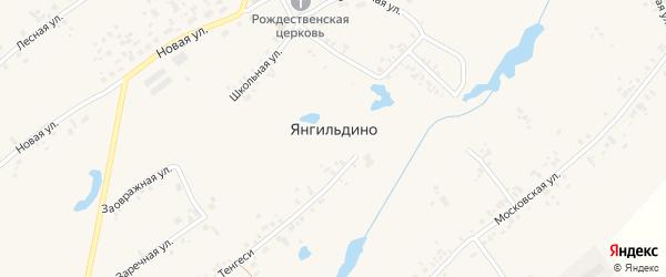 Заречная улица на карте села Янгильдино с номерами домов
