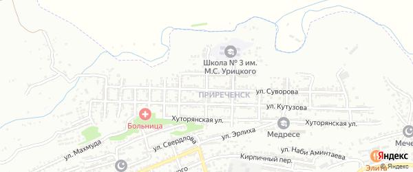 Улица Донского на карте Буйнакска с номерами домов