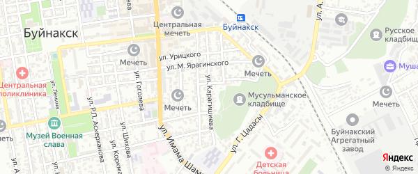 Улица Карагишиева на карте Буйнакска с номерами домов
