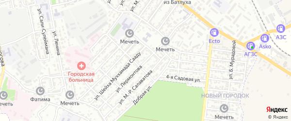 Улица Лермонтова на карте Буйнакска с номерами домов