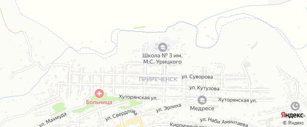 Улица Нахимова на карте Буйнакска с номерами домов
