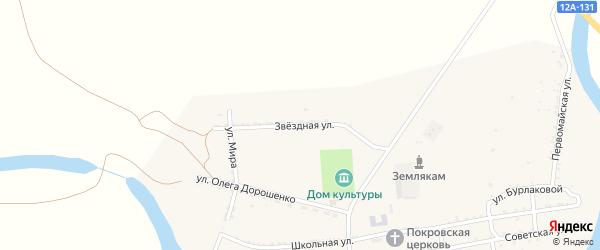 Звездная улица на карте села Басы с номерами домов
