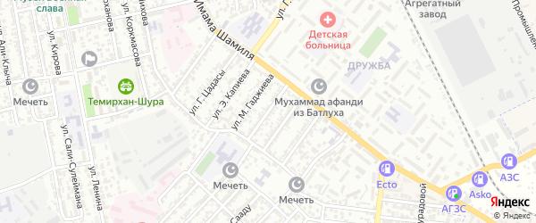 Улица Калинина на карте Буйнакска с номерами домов