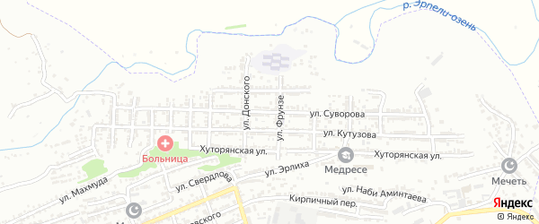 Улица Суворова на карте Буйнакска с номерами домов
