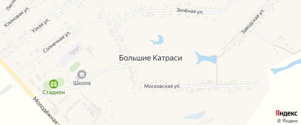 Шоссейная улица на карте деревни Большие Катраси с номерами домов