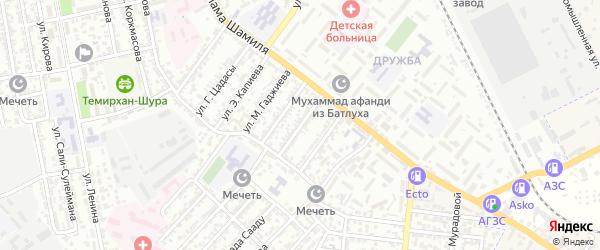 Улица Пирогова на карте Буйнакска с номерами домов