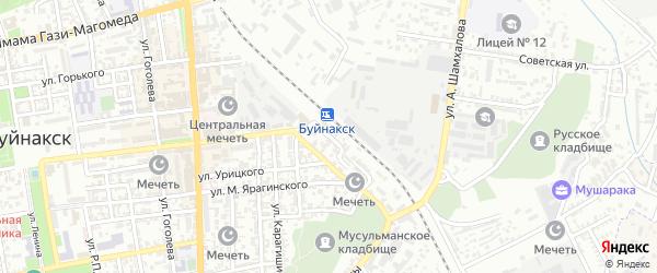 Привокзальная улица на карте Буйнакска с номерами домов
