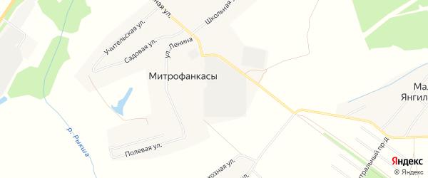 Карта деревни Митрофанкасы в Чувашии с улицами и номерами домов