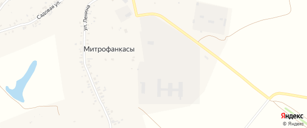 Фермская улица на карте деревни Митрофанкасы с номерами домов