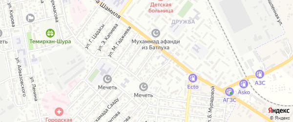 Улица Мичурина на карте Буйнакска с номерами домов