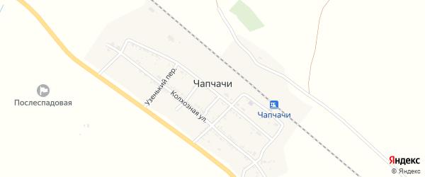 Железнодорожная улица на карте поселка Чапчачи с номерами домов