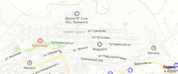 Улица Чапаева на карте Буйнакска с номерами домов