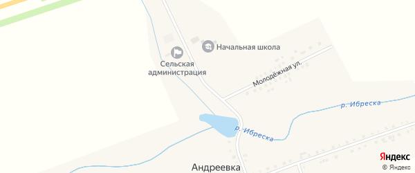 Колхозная улица на карте деревни Андреевки с номерами домов