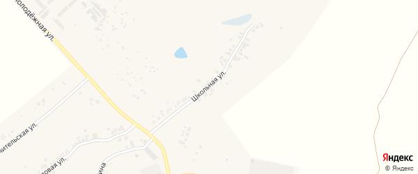 Школьная улица на карте деревни Большие Катраси с номерами домов