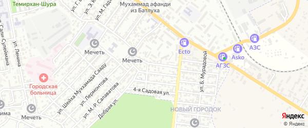 Улица Т.Магомедова на карте Буйнакска с номерами домов