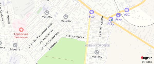Улица Саидова на карте Буйнакска с номерами домов