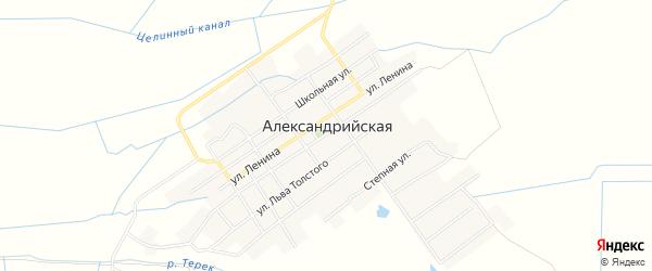 Карта села Александрийской в Дагестане с улицами и номерами домов
