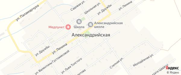 Улица Толстого на карте села Александрийской с номерами домов
