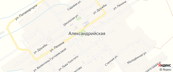 Улица Лермонтова на карте села Александрийской с номерами домов