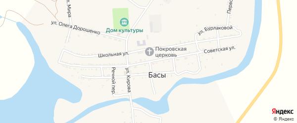 Советская улица на карте села Басы с номерами домов