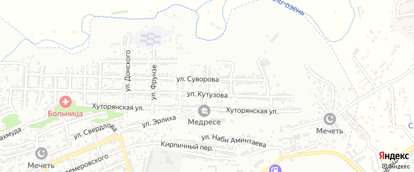 Улица Щорса на карте Буйнакска с номерами домов