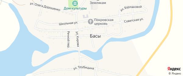 Кузнечный переулок на карте села Басы с номерами домов