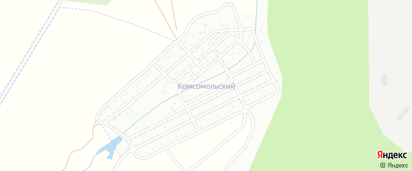 Территория сдт Комсомольский на карте Чебоксар с номерами домов