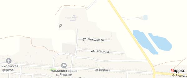 Улица Николаева на карте села Яндыки с номерами домов
