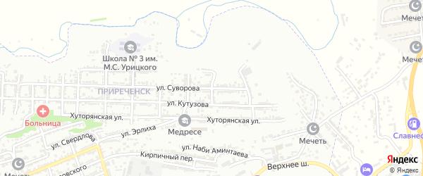 Овражная улица на карте Буйнакска с номерами домов