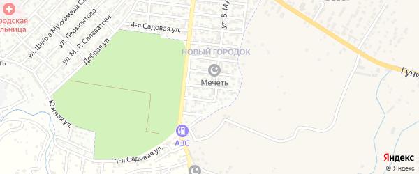 Улица Хизри Гаджиева на карте Буйнакска с номерами домов