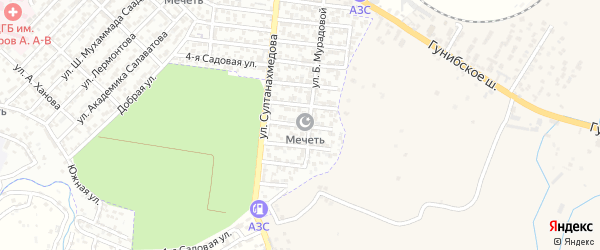 Улица Д.Апашева на карте Буйнакска с номерами домов