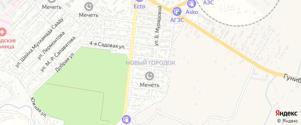 Микрорайон Новый городок на карте Буйнакска с номерами домов