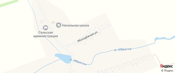 Молодежная улица на карте деревни Андреевки с номерами домов