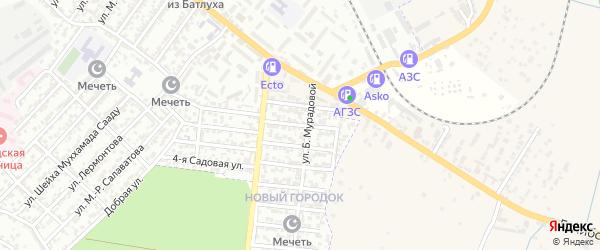 Улица С.Алибекова на карте Буйнакска с номерами домов