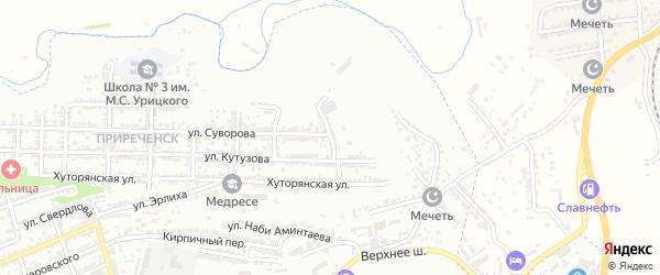 Речная улица на карте Буйнакска с номерами домов